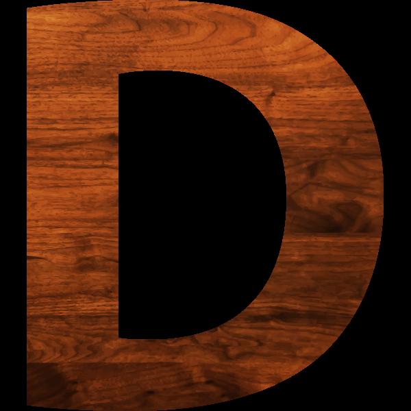 Wood texture alphabet D