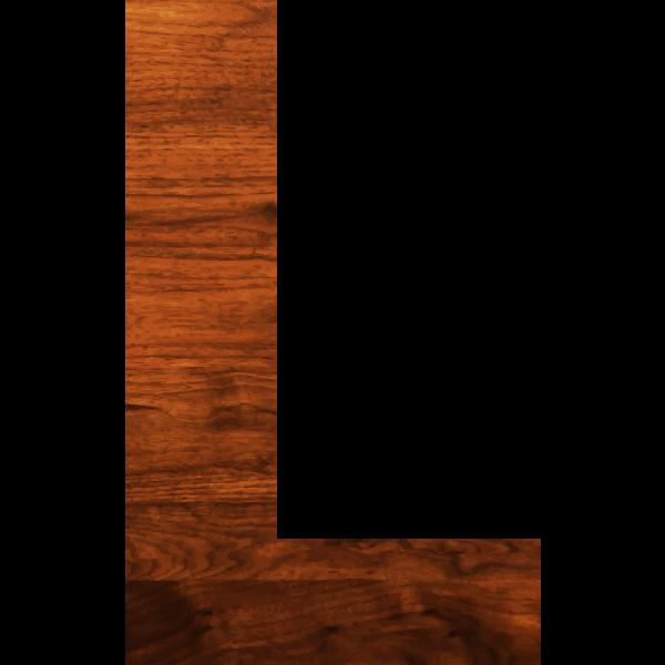 Wood texture alphabet L