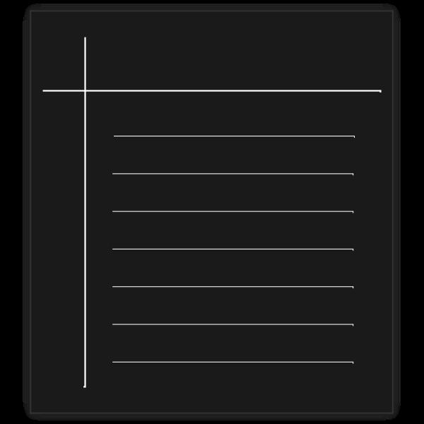 Monochrome word processor vector icon