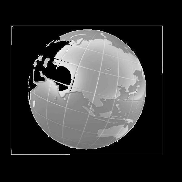 World globe on white background vector graphics
