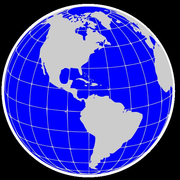 America world globe vector clip art