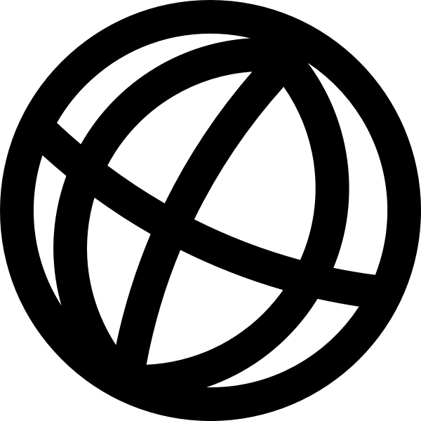 World globe icon vector graphics