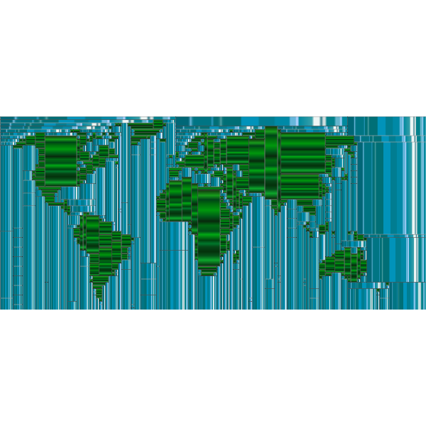 World Map Mondrian Mosaic 11