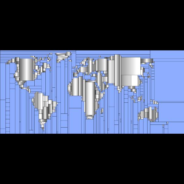 World Map Mondrian Mosaic 5