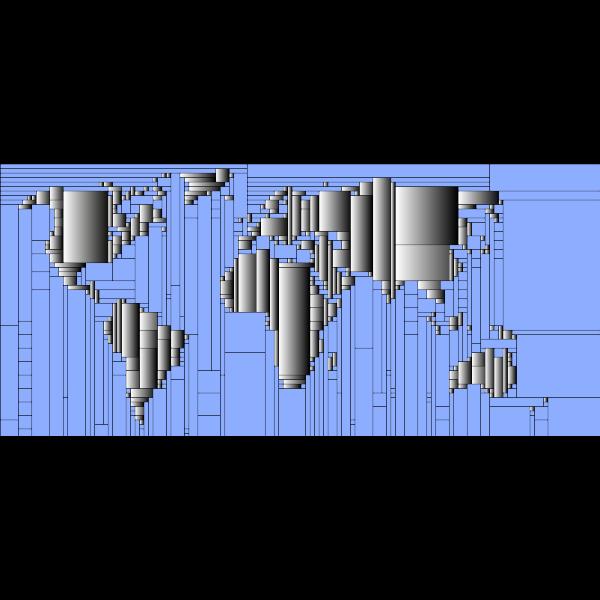 World Map Mondrian Mosaic 6