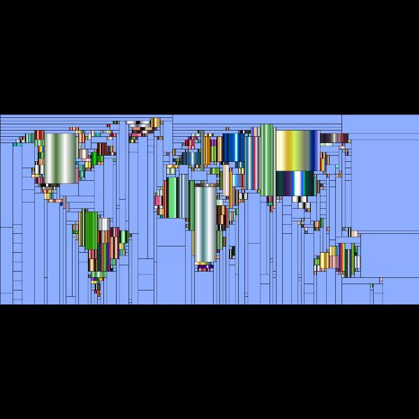 World Map Mondrian Mosaic 8
