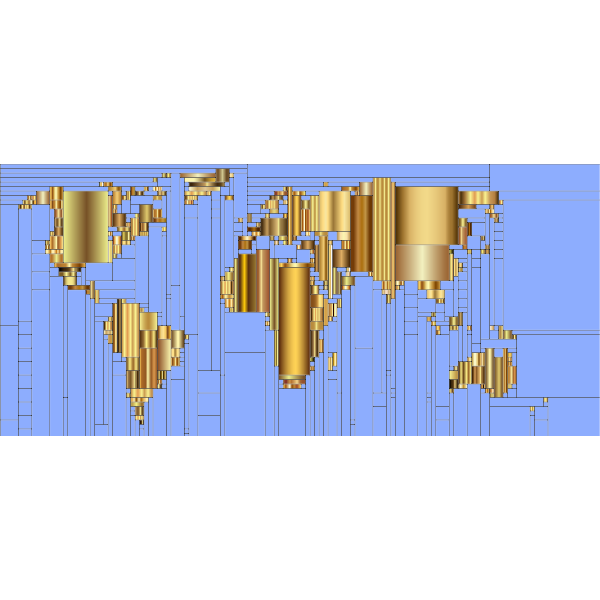 World Map Mondrian Mosaic 9