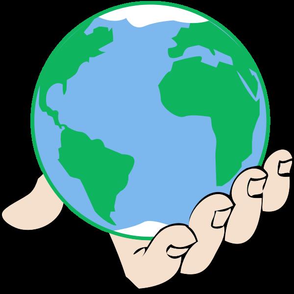 Big world in hand