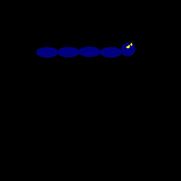 Blue caterpillar