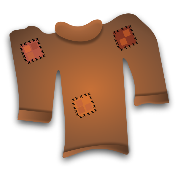Vector clip art of a worn out sweater
