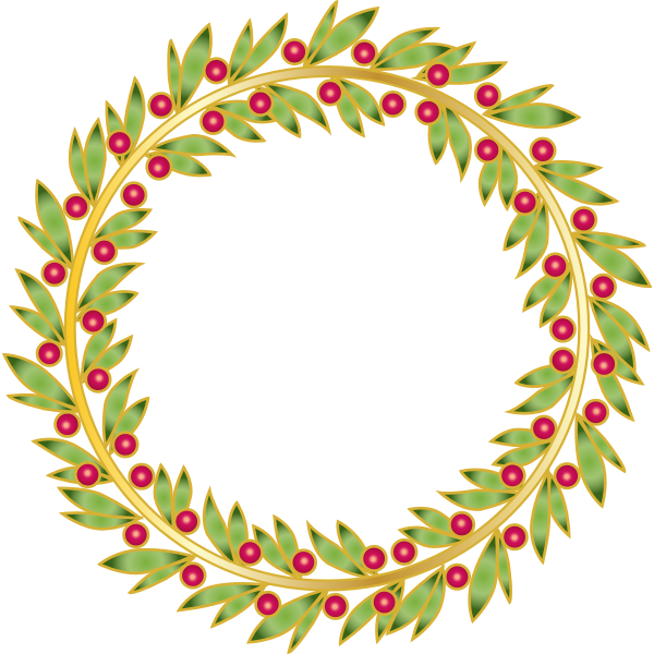 Wreath floral decoration
