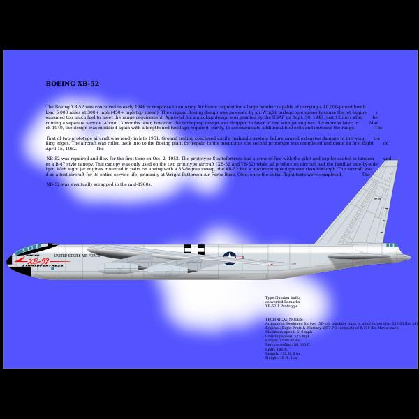 XB-52 airplane