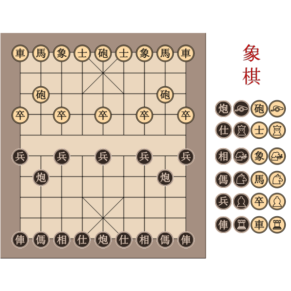 Chinese chessboard vector image