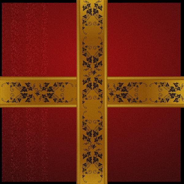 Vector image of sparkling Christmas gift box