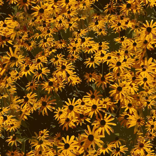 Yellow flower tile 2015082824