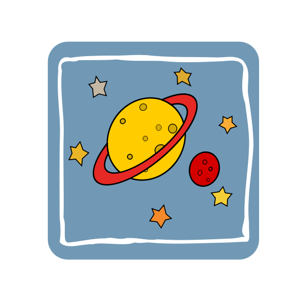 Cartoon illustration of universe