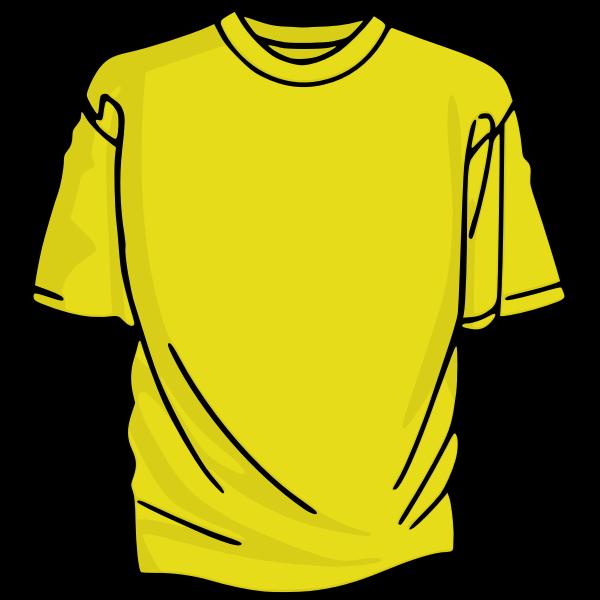 Yellow t-shirt vector graphics