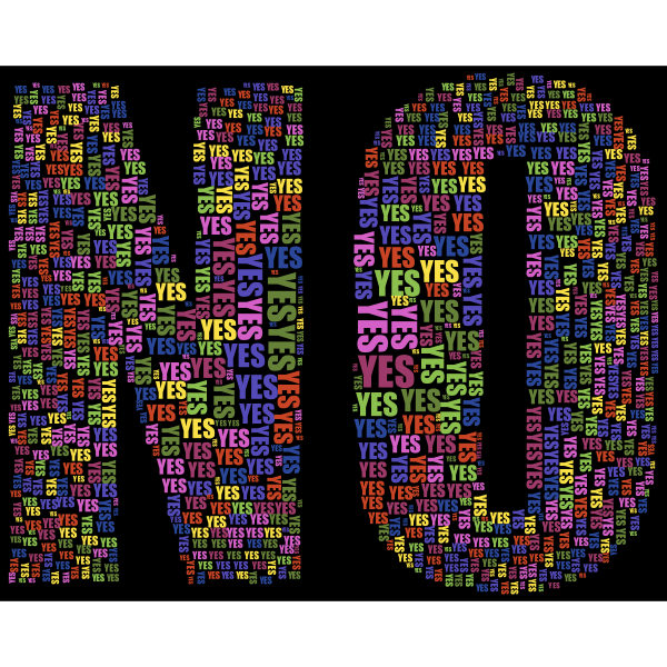 Yes And No Typography 2