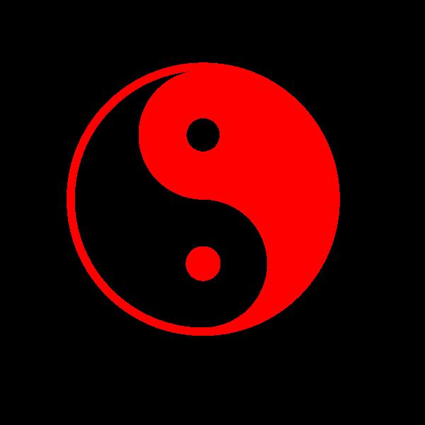 Red yin yang