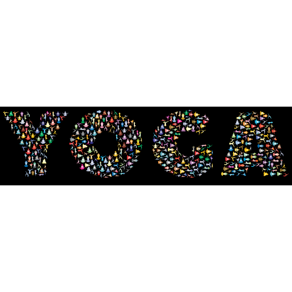 Yoga Typography Chromatic