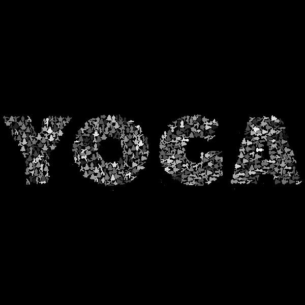 Yoga Typography Grayscale