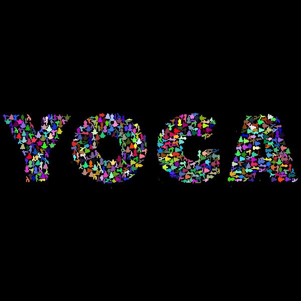 Yoga Typography Prismatic