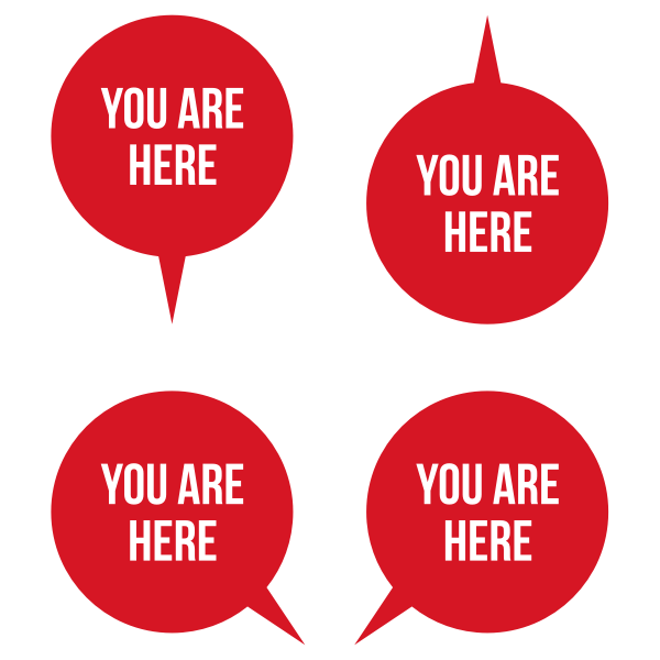 """""""You Are Here"""" pointers"""