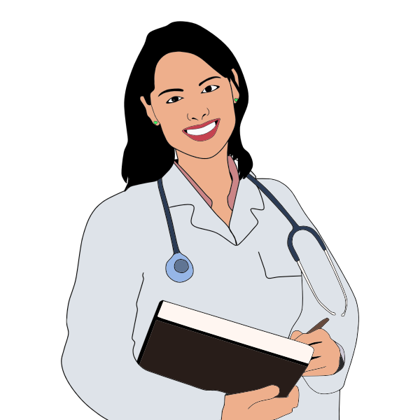 Young female doctor