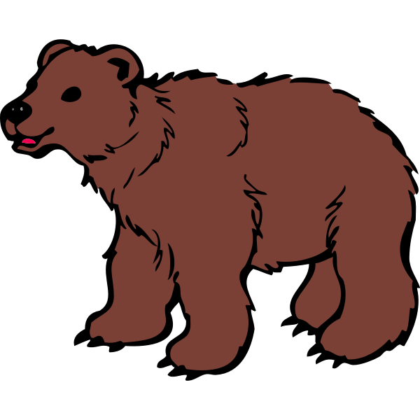 Young brown bear vector clip art