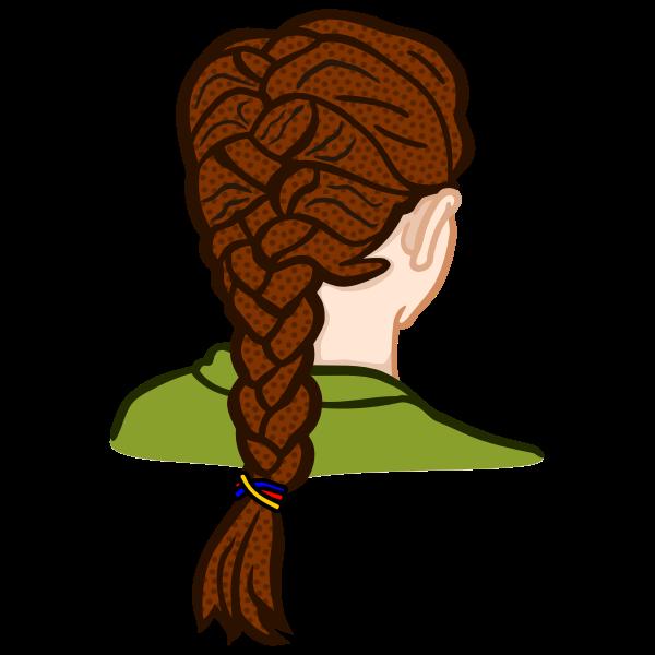 french braid - coloured