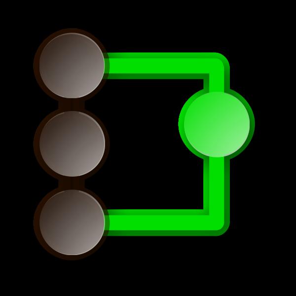 QGit icon vector image