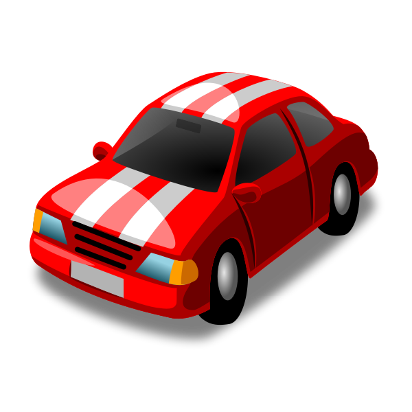 Vector clip art of sports vehicle