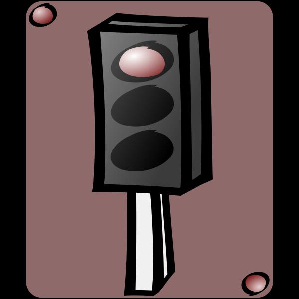 Traffic lights cartoon art