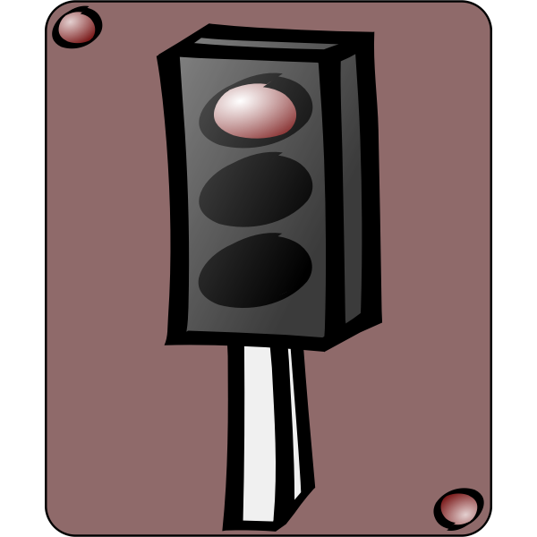 Traffic lights cartoon art