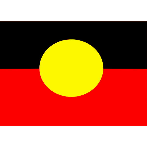 The Australian Aboriginal flag vector clip art