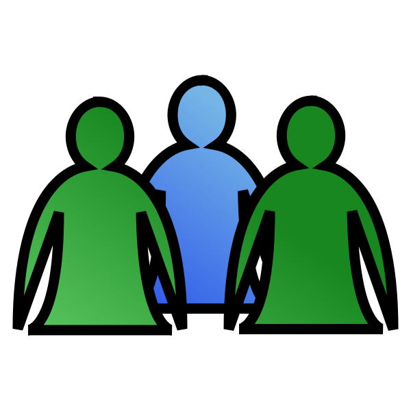 Group of people in a team icon vector graphics