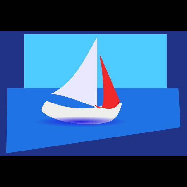 abstractsailingboat