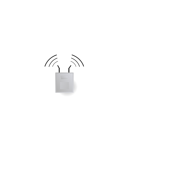 Wireless router vector illustration