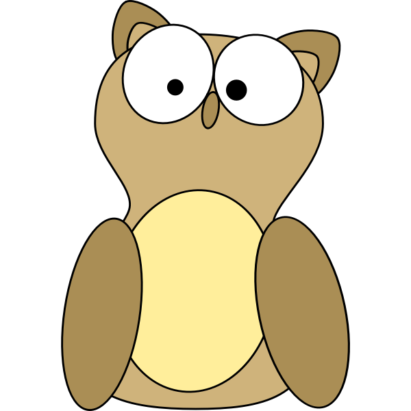 Vector drawing of an owl toy