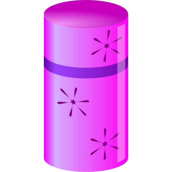 Shiny Pink and Purple Cylinder Container