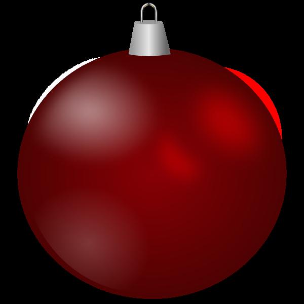 Maroon Christmas ornament vector image