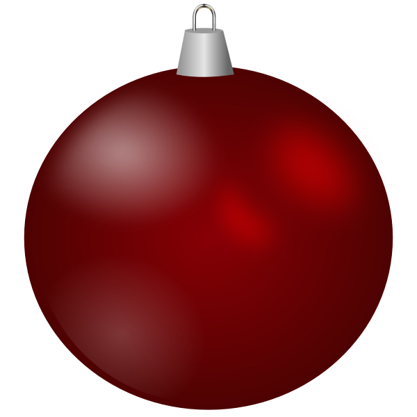 Maroon Christmas ornament vector image