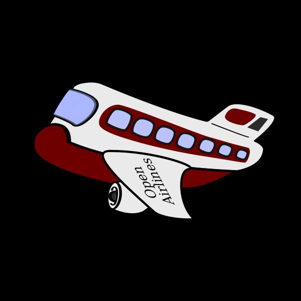 Cartoon vector image of an airplane