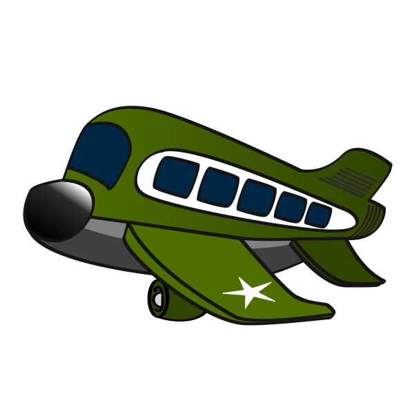 Military airplane cartoon vector