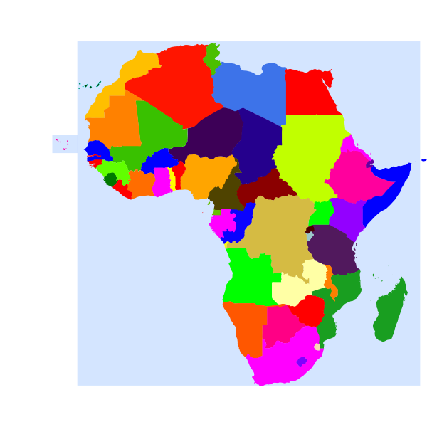 Africa and its countries vector graphics