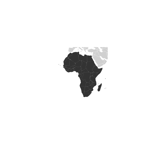 Outline map of African continent vector image