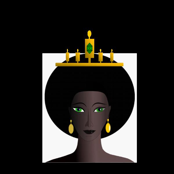 African queen's head vector image