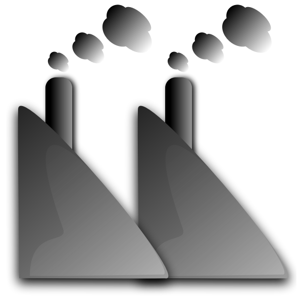Factory chimneys vector graphics