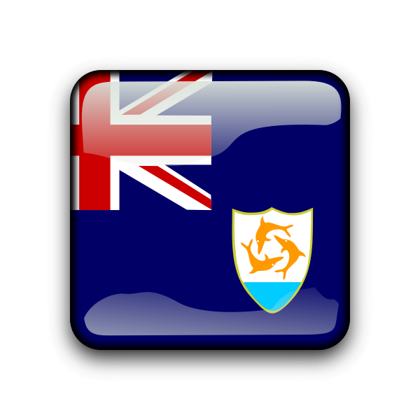 Anguilla vector flag button