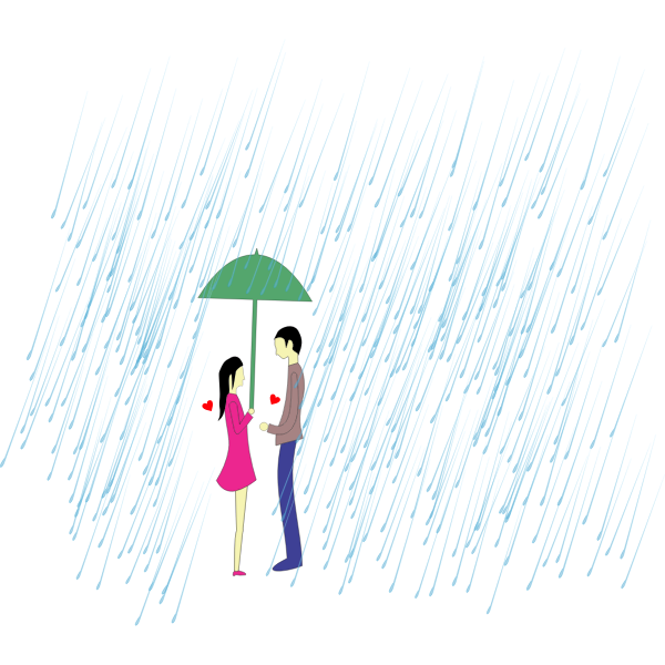 Shared Umbrella Couple